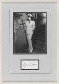 Movie/TV Memorabilia:Autographs and Signed Items, Marlene Dietrich Autograph with Photo....