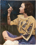 Movie/TV Memorabilia:Original Art, Gloria Swanson Portrait....