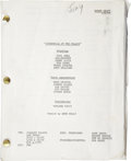 Movie/TV Memorabilia:Memorabilia, Jilly Rizzo's Personal Copy of Cinderella at the PalaceScript. ...