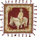 "Political:Textile Display (1896-present), Theodore Roosevelt: ""Rough Rider"" Portrait Chenille Lap Robe,..."