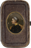 Political:3D & Other Display (pre-1896), Zachary Taylor: Reverse Glass Painted Portrait Wallet. ...
