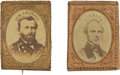 Political:Ferrotypes / Photo Badges (pre-1896), Grant & Seymour: A Matched Pair of 1868 Campaign Pins....(Total: 2 Items)