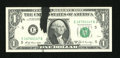 Error Notes:Ink Smears, Fr. 1905-E $1 1969B Federal Reserve Note. Choice CrispUncirculated.. ...
