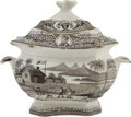 Political:3D & Other Display (pre-1896), William Henry Harrison: Lidded Sugar Bowl Issued for the 1840 Campaign,...