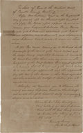 "Autographs:Statesmen, [Texas Supreme Court Document] Thomas Jefferson Green AutographDocument Signed ""Thomas Green/ Clerk Sup. Court"". ..."