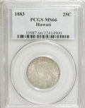 Coins of Hawaii: , 1883 25C Hawaii Quarter MS66 PCGS. PCGS Population (84/12). NGC Census: (69/6). Mintage: 500,000. (#10987)...