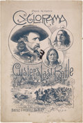 Books:Pamphlets & Tracts, [Custer Cyclorama] 1889 Cyclorama of Gen. Custer's Last FightAgainst Sioux Indians, or the Battle of the Little Big Hor...