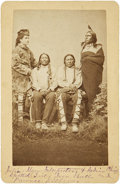 American Indian Art:Photographs, Photograph of Indian Interpreter Julius Meyer with Sioux Chiefs,circa 1870s....