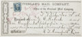 Miscellaneous:Ephemera, Overland Mail Company Receipt for Fare Paid Document, Utah Territory, 1865....