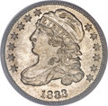 Bust Dimes, 1833 10C Last 3 High MS66 PCGS. CAC....