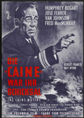 "Movie Posters:War, The Caine Mutiny (Columbia, R-1960s). German A1 (23.5"" X 33"").War...."