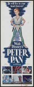 "Movie Posters:Animated, Peter Pan (RKO, 1953). Insert (14"" X 36""). Walt Disney Animated...."