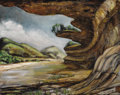 Texas:Early Texas Art - Modernists, BETTY WINNIE BRADY (American, 1914-1979). Landscape with RiverScene, 1947. Oil on canvas. 16 x 20 inches (40.6 x 50.8 c...