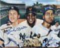 Autographs:Photos, Mickey Mantle Signed Print. ...
