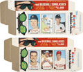 Baseball Cards:Lots, 1965 Bazooka Gum Baseball Complete Boxes Group Lot of 2....