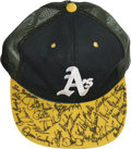 Autographs:Others, Mid-1980s Oakland Athletics Team Signed Cap. ...
