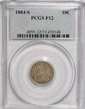 Seated Dimes: , 1884-S 10C F12 PCGS. PCGS Population (1/57). NGC Census: (0/51).Mintage: 564,969. Numismedia Wsl. Price for NGC/PCGS coin ...
