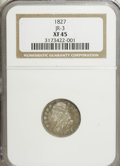 Bust Dimes, 1827 10C XF45 NGC. JR-3. NGC Census: (9/204). PCGS Population(9/196). Mintage: 1,300,000. Numismedia Wsl. Price for NGC/PC...