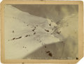 Western Expansion:Goldrush, Photograph: Gold Miners Looking up the Summit at White Pass,Alaska, 1898. ...
