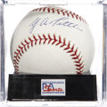 Autographs:Baseballs, Y. A. Tittle Single Signed Baseball, PSA Mint+ 9.5. ...