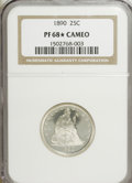Proof Seated Quarters, 1890 25C PR68 ★ Cameo NGC. NGC Census: (5/1). (#85591)...
