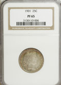 Proof Barber Quarters: , 1901 25C PR65 NGC. NGC Census: (43/62). PCGS Population (25/25). Mintage: 813. Numismedia Wsl. Price for NGC/PCGS coin in P...