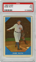Baseball Cards:Singles (1960-1969), 1960 Fleer Babe Ruth #3 PSA NM 7....