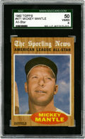 Baseball Cards:Singles (1960-1969), 1962 Topps Mickey Mantle #471 SGC 50 VG/EX 4....