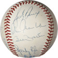 Autographs:Baseballs, New York Yankees Greats Multi-Signed Baseball....