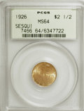Commemorative Gold: , 1926 $2 1/2 Sesquicentennial MS64 PCGS. PCGS Population(4049/1779). NGC Census: (2472/939). Mintage: 46,019. NumismediaWs...