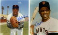 Autographs:Photos, Willie Mays and Juan Marichal Signed Photographs Lot of 2....