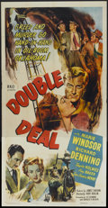 "Movie Posters:Drama, Double Deal (RKO, 1951). Three Sheet (41"" X 81""). Drama...."