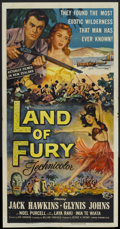 "Movie Posters:Adventure, Land of Fury (Universal, 1955). Three Sheet (41"" X 81"").Adventure...."