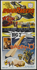 """Movie Posters:Action, Daddy """"O""""/RoadRacers (American International, R-1959). Three Sheet(41"""" X 81""""). Action...."""