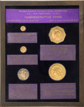 Commemorative Gold, Farouk's Five-Piece Panama-Pacific Commemorative Set With Cases andDocumentation.... (Total: 9 items)