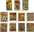 Golden Age (1938-1955):Miscellaneous, Big Little Book Cartoon Character Group (Whitman, 1942-48) Condition: Average VG.... (Total: 11 Items)