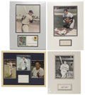 Autographs:Letters, Baseball Hall Of Famer Signature Displays Lot of 4....