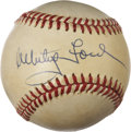 Autographs:Baseballs, Whitey Ford Single Signed Baseball....