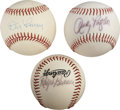 Autographs:Baseballs, Vintage Stars Single Signed Baseballs Lot of 3....