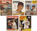 Autographs:Others, 1949-59 Stan Musial Signed Baseball Publications....