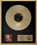 Music Memorabilia:Awards, Best of Dolly Parton RIAA Gold Album Award....