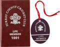 Movie/TV Memorabilia:Memorabilia, Evelyn Karloff's Cricket Club Membership Book....