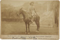"Photography:Cabinet Photos, William F. Cody ""Buffalo Bill"" and His Horse ""Charlie"" CabinetCard...."