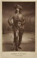 "Photography:Cabinet Photos, William F. Cody ""Buffalo Bill"" Cabinet Card...."