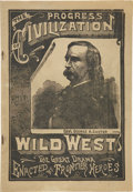 Western Expansion:Cowboy, Pamphlet Promoting the Combined Forepaugh and Wild WestExhibitions, Circa 1890....