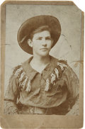 Photography:Cabinet Photos, Cabinet Card of Young Man Dressed in Fringed Jacket....