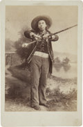 Photography:Cabinet Photos, Cabinet Card of Wild West Show Drum Major....
