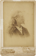 "Photography:Cabinet Photos, ""Captain Jack"" Crawford Inscribed Cabinet Card...."