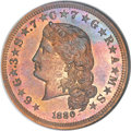 Patterns, 1880 $4 Flowing Hair Four Dollar, Judd-1658, Pollock-1858, Low R.7,PR66 Red and Brown NGC....