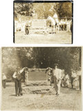 Photography:Official Photos, Two Photographs of Buffalo Bill Cody at the Dedication of A PonyExpress Monument in St. Joseph, Missouri, Circa 1912.... (Total: 2Items)